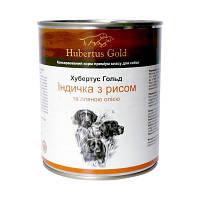Консервы Hubertus Gold для собак индейка с рисом, 800 г, фото 1