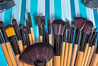 Кисточки для макияжа Набор кистей Brown 24 штуки