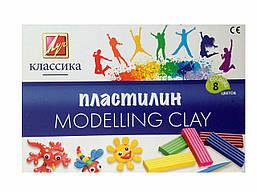 "Пластилин 8 цветов ""Луч"" Классика"