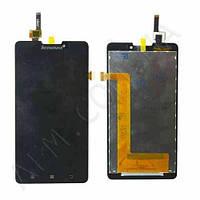 Дисплей (LCD) Lenovo P780 с сенсором черный оригинал