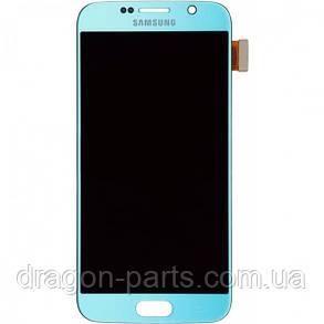 Дисплей Samsung G920 Galaxy S6 с сенсором Голубой Blue оригинал , GH97-17260D, фото 2