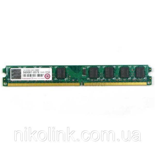 Память Transcend DDR2 1GB PC2-6400 (800Mhz) комиссионный товар