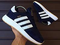 Кроссовки Adidas Iniki Navy Blue мужские