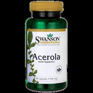 Натуральный витамин С -концентрат 4:1 из вишни Acerola 200 % дневной нормы  60 капс