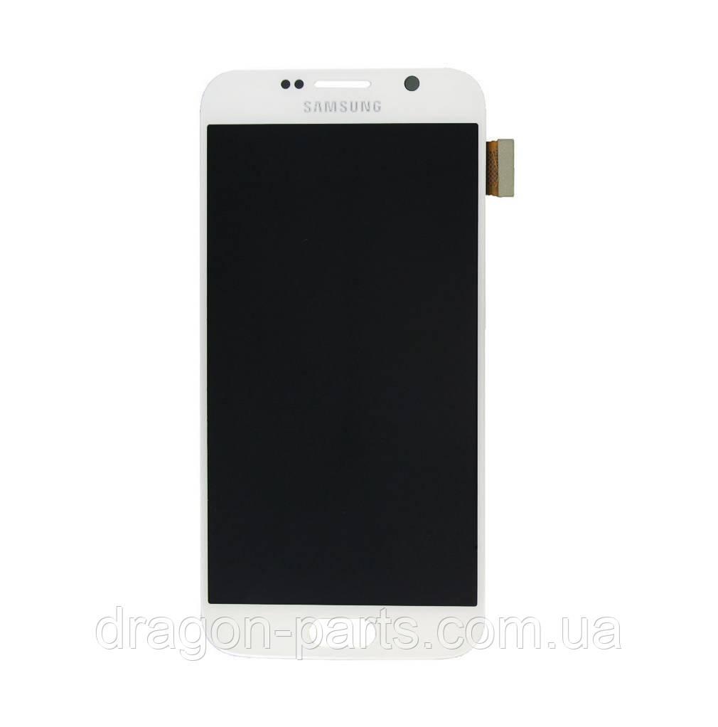 Дисплей Samsung G920 Galaxy S6 с сенсором Белый White оригинал , GH97-17260B