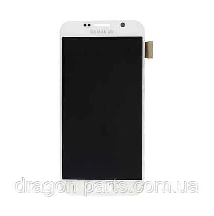 Дисплей Samsung G920 Galaxy S6 с сенсором Белый White оригинал , GH97-17260B, фото 2