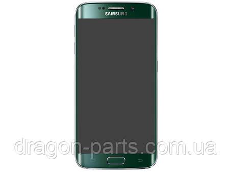 Дисплей Samsung G925 Galaxy S6 Edge с сенсором Зеленый Green оригинал , GH97-17162E, фото 2