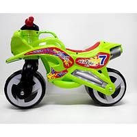 Каталка Мотоцикл салатовый 11-006 ZV