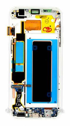 Дисплей Samsung G935 Galaxy S7 Edge с сенсором Серебряный Silver оригинал , GH97-18533B, фото 2