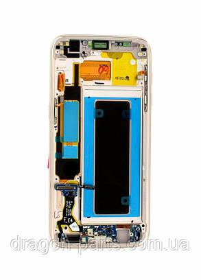 Дисплей Samsung G935 Galaxy S7 Edge с сенсором Голубой Blue оригинал , GH97-18533G, фото 2