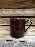 Чашка офиска коричневая