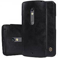 Кожаный чехол-книжка Nillkin Qin для Motorola Moto X Play (XT1562) (Черный)