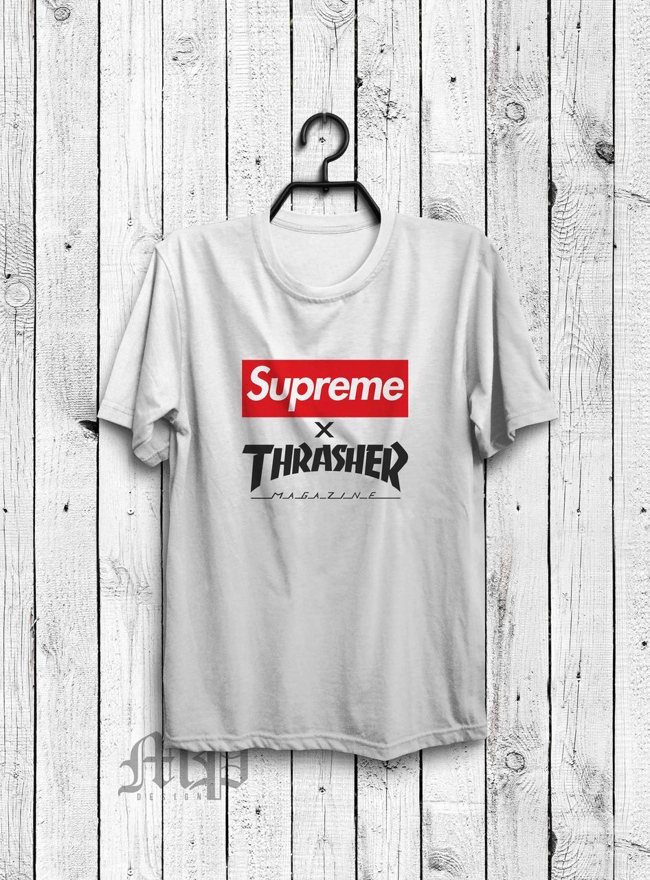 Футболка Supreme x Thrasher (Суприм х Трешер) , цена 280 грн ... bc0f1fbc36b