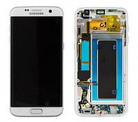 Дисплей Samsung G935 Galaxy S7 Edge с сенсором Белый White оригинал , GH97-18533D