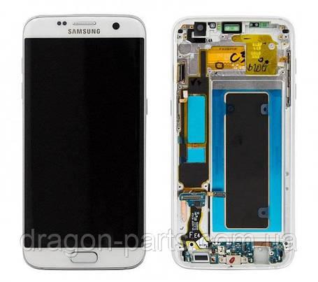 Дисплей Samsung G935 Galaxy S7 Edge с сенсором Белый White оригинал , GH97-18533D, фото 2