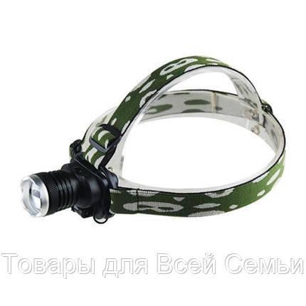 Налобный фонарь Police Bailong BL-6809 12000W, мощный аккумуляторный светодиодный фонарик, фонарик на голову, фото 2
