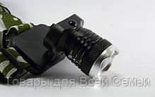 Налобный фонарь Police Bailong BL-6809 12000W, мощный аккумуляторный светодиодный фонарик, фонарик на голову, фото 3