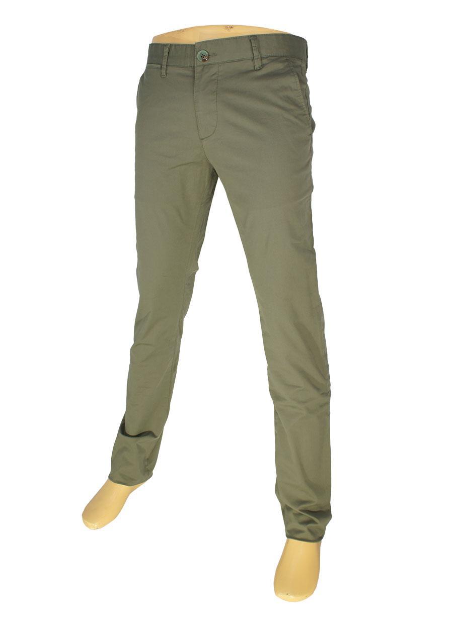 Оливкові чоловічі джинси X-Foot 7012-4658