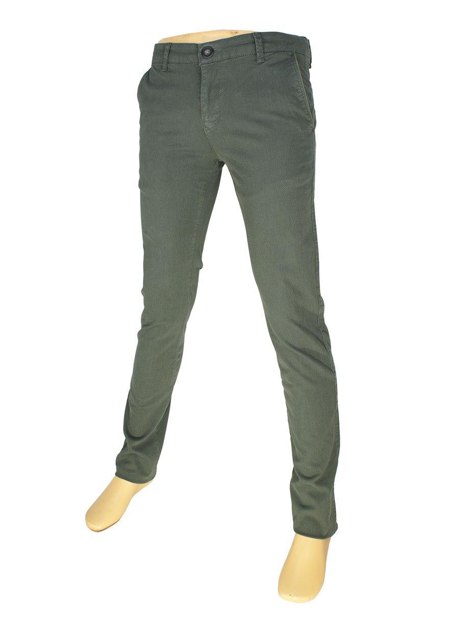 Стильні чоловічі джинси  X-Foot 170-7034 кольору хакі