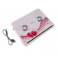 """Стильная охлаждающая подставка-кулер для ноутбука 10 """"- 16"""" Notebook Helder FC"""