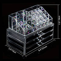 Косметичка Makeup Cosmetics Organizer Drawers Grids Display Storage Clear Acrylic ZF