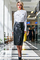 Офисная женская белая блуза 2301 Seventeen 44-50 размеры
