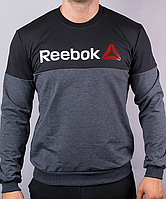 Мужской реглан Reebok серого цвета