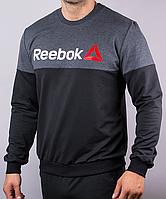 Мужской реглан Reebok черного цвета, фото 1