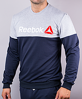 Мужской реглан Reebok синего цвета, фото 1