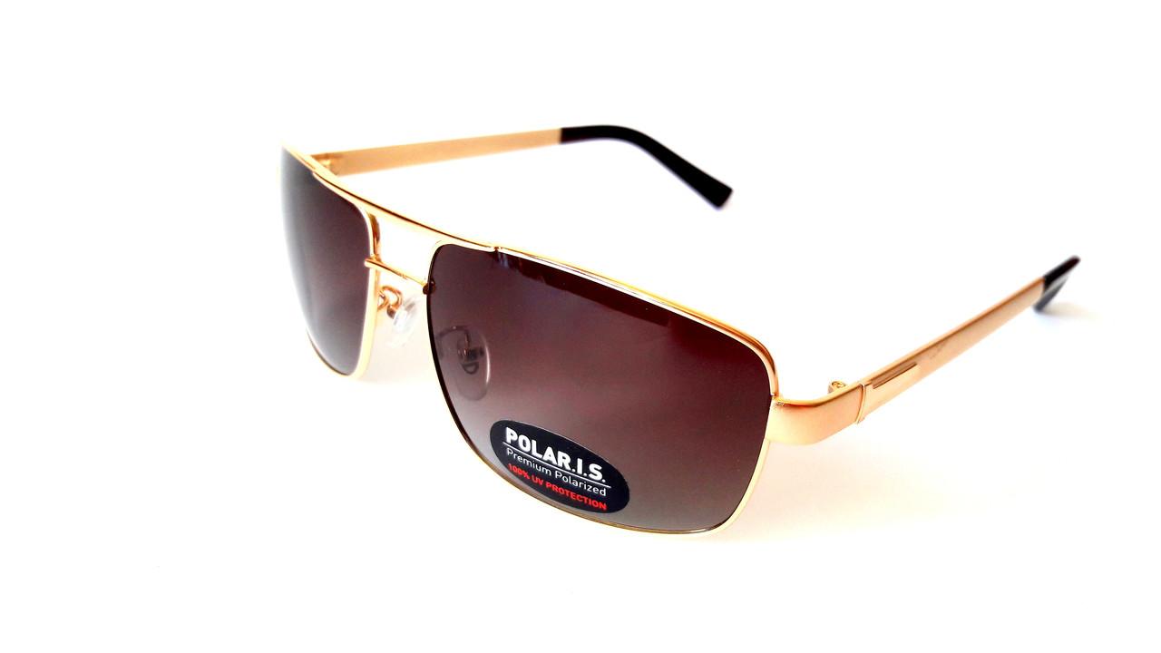 Солнцезащитные очки с поляризацией Polaris, металл, золото, классика -  Интернет-магазин « ecc2b7b8f8a