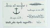Временная водонепроницаемая татуировка - Флеш-тату, tattoo flash, L-085