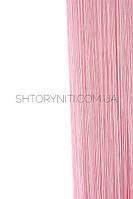 Розовые шторы нити