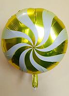 """Фольгированные шарики """"Леденец""""  Balloons 45 см Желтый"""