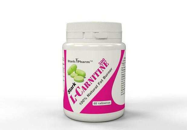 Жироспалювач Stark Pharm L-Карнітин 100% Pure 500 мг, фото 2