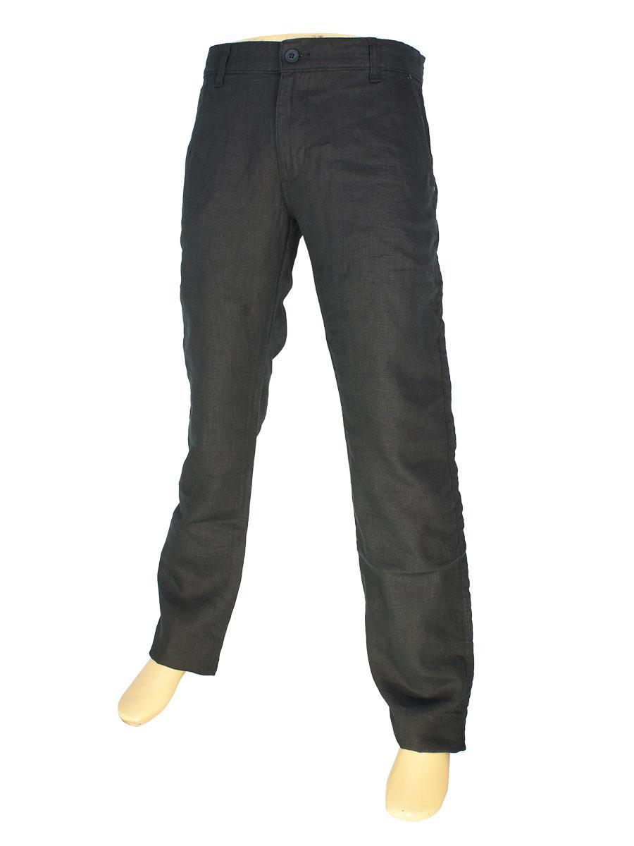 Чорні чоловічі лляні джинси Cen-cor CNC-3033 C.R-1