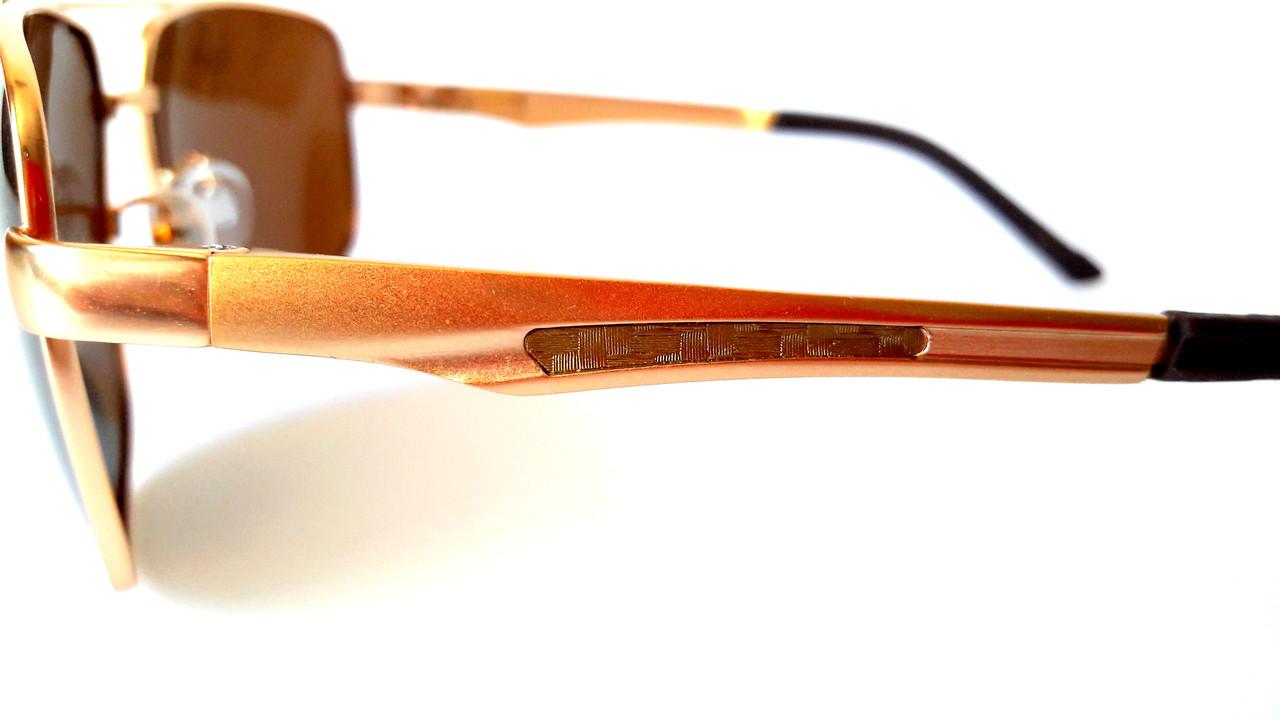 ... фото · Солнцезащитные очки с поляризацией Polaris, металл, золото,  унисекс, с флексами, фото 8642227d941