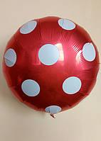 Фольгированные шарики в горошек 45 см Balloons Красный