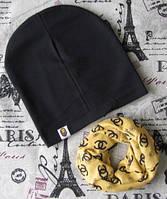 Комплект шапка Варе + шарф хомут для подростков