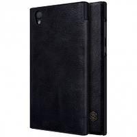 Кожаный чехол-книжка Nillkin Qin для Sony Xperia L1 Dual (Черный)