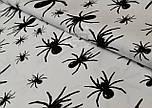 Польская бязь с черными пауками на белом фоне (862), фото 2