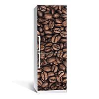 Наклейка на холодильник Кофе ( (виниловая наклейка, самоклейка, оклеить холодильник, декор кухни, для кофейни)