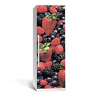 Наклейка на холодильник  Лесная ягода  (виниловая наклейка, самоклейка, оклеить холодильник, декор)