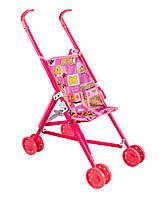Розовая коляска для куклы арт.0348