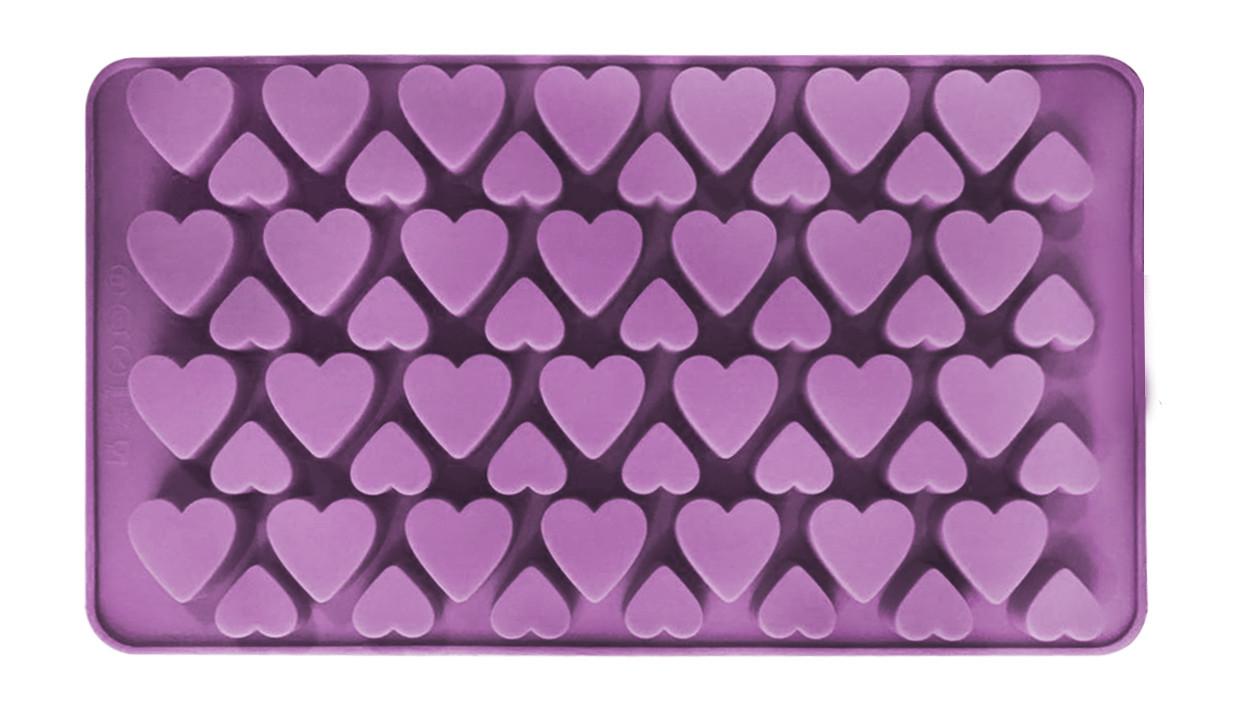 Сердца 56 штук форма силиконовая