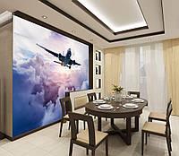 Фотообои виниловые панорама Самолет