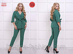 Женский стильный брючный комплект-двойка: жакет и брюки