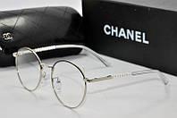 Имиджевые очки Chanel 5956 серебро черн