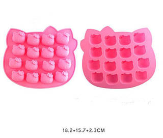 Форма силиконовая для выпечки Хелло Китти 16 штук
