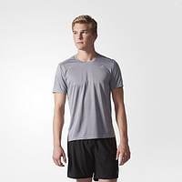 Беговая мужская футболка adidas Response Tee Grey BP7421 - 2017/2