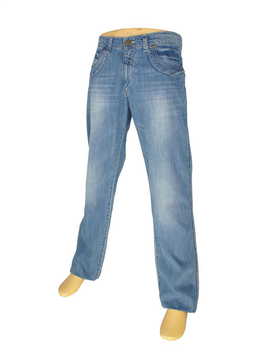 Стильные мужские джинсы Differ E-1729 SP.1006 в голубом цвете
